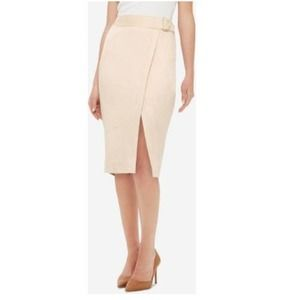 NWT The Limited Faux Suede Midi Pencil Skirt 12P